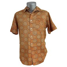 Penney's Towncraft 1970s Men's Button Front Shirt