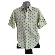VanoPress Geometric Print 1970s Men's Shirt