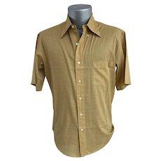 !970s Towncraft for Penney's Short Sleeve Men's Dress Shirt
