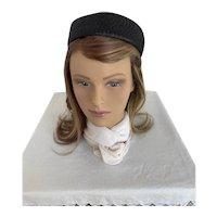 1960s Amy New York Black Pillbox Hat