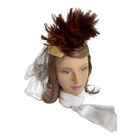 1940s Feathered Tilt Hat