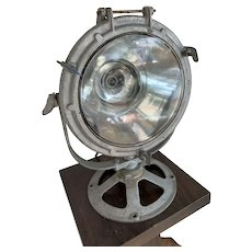 1950s Crouse Hinds Spotlight, Scene Light, Industrial Fire Service or Nautical Lamp