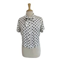 Sweet Adeline Polka Dot Blouse with Pussy Bow