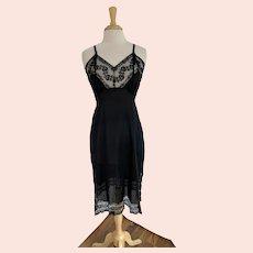 Lady Lynne Black Slip with Black Lace