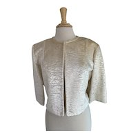 Best & Company 5th Ave. New York 1960s Faux Sheared Astrakhan Jacket