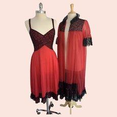 1960s Munsingwear Peignoir Set