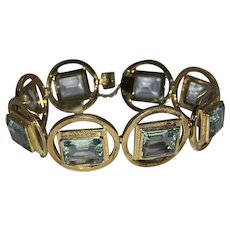 Spectacular 18k Gold Fine Aquamarine Bracelet almost 50 Carats of Luscious Color OOAK