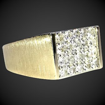 Fine Gentlemen's 1 CTTW VS Diamond 14k Gold Ring
