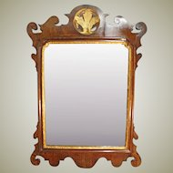 Georgian Chippendale Walnut Mirror.