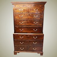 Georgian Mahogany Chest on Chest.Circa 1790