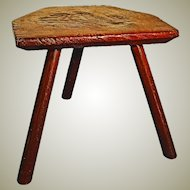 Primitive Country Cricket Stool. circa 1800