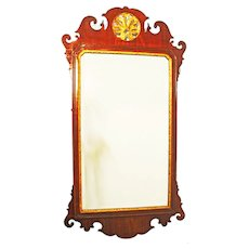 Wall Mirror. Georgian Antique Pier Glass.