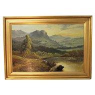 Scottish Landscape Painting. Oil on Canvas. F. E. Jamieson. 1895 - 1950