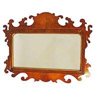 Victorian Walnut Fretwork Mirror