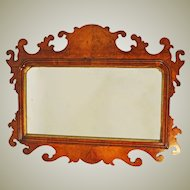 Victorian Walnut Fretwork Mirror