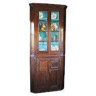 18th Century Oak Floor Standing Corner Cupboard