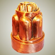 Victorian Copper Jelly Mould,