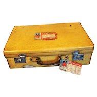 Art Deco Vintage Vellum Suitcase