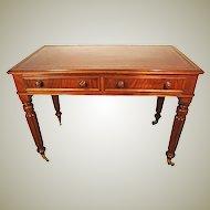 Mahogany Writing Desk, Table. 19th Century