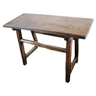 Primitive Tavern or Pub Table. Ash and Oak