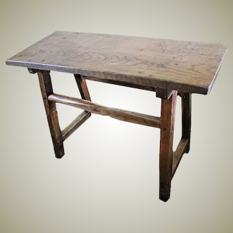 Primitive Tavern or Pub Table. Ash and Oak