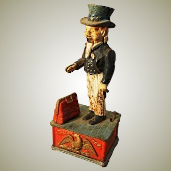 American Cast Iron  'Uncle Sam' Money box.