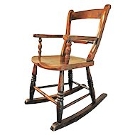 Victorian Childs Country Rocking Chair