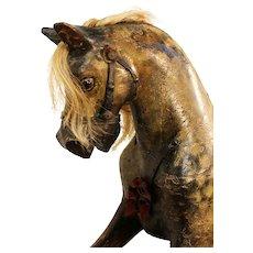 Vintage Triang Carved Wooden Rocking Horse. Sportyboy 1