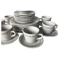 30 piece set of 1950s Shenango China Restaurant Ware Dishes