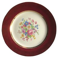 Century by Salem Aristocrat 23K gold encrusted Dinner Plates  Deep with Floral bouquet, 1950s china