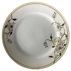 1891 - 1921 Nippon gold flower hand painted plates with Blue rising sun logo