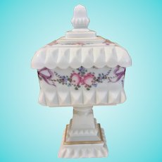 Westmoreland Wedding Roses and Bows Milk Glass