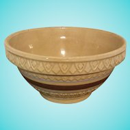 Early Robinson Ransbottom yellow ware bowl