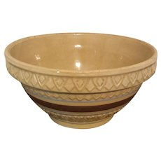 Early Robinson Ransbottom yellow ware bowl