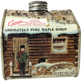 Vintage Coombs Maple Syrup Tin