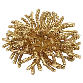 1970's Tiffany and Co Anemone  Pin