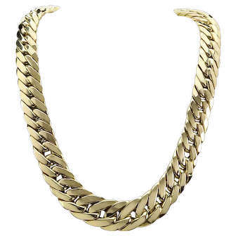 18K Yellow Gold Cuban Link Necklace