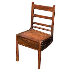 French Three Legged Coster Monger Chair