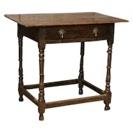 English Oak Side Table