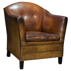 Leather Armchair from Holland