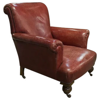 English Leather Armchair