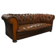 English Chesterfield Straight Back Sofa