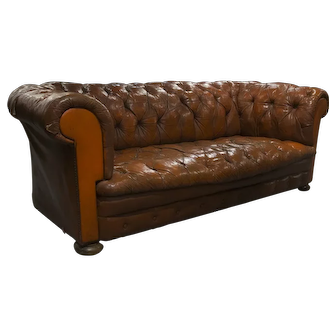 English Chesterfield Straight Back Sofa