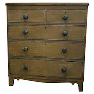 English Hand Painted Four Drawer Chest