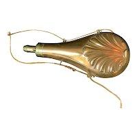 Gun Powder Flask Brass Copper cord original