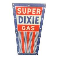 Dixie Gas Pump Plate Sign Virginia Porcelain Gasoline