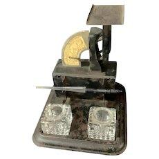 Gem Postal Scale with Stamp Drawer, Pen rests and Ink Bottles