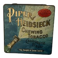 Heidsieck Chewing Tobacco Tin Champagne Flavor Metal Tin Bottle Case