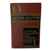 Old Mr Boston Official Bartenders Guide 1935 1st Edition 2nd Printing