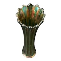 """Corinth and Westmoreland Carnival Vase Teal Color 12"""""""